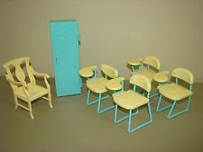 Barbie School Desks Teacher Chair Locker furniture