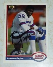 Lawrence Taylor auto photo New York Giants signed HOF autograph 1991 Upper Deck