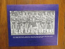 1977 Albion College Men's Basketball Program(15 Signed/MIKE TURNER/TONY KERN)