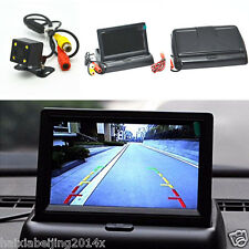 "Car SUV Rear View 4LED CCD Night Vision Camera 4.3"" Foldable LCD Display Monitor"