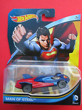 "HOTWHEELS DC COMICS CHARACTER CARS "" MAN OF STEEL""1: 64 SCALE NEW!"