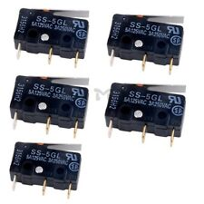 5Pcs Omron SS-5GL Limit Switch 3 Pins Microswitch Micro Switch 5A 1.47N