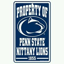 """PENN STATE NITTANY LIONS """"Property Of"""" Sign FREE SHIPPING! Durable Poster"""
