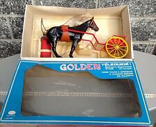 Vintage Téléguidé Cosmec Made In Italy Art#98 GOLDEN horse cavallo al galoppo