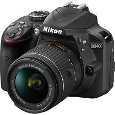 Nikon D3400 Black + AF-P DX 18-55mm f/3.5-5.6 G VR Lens Kit Full HD 18-55 ~ NEW