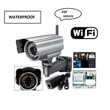 IP CAMERA ESTERNO TELECAMERA WIRELESS VIDEO SORVEGLIANZA INFRAROSSI 3G WIFI PC