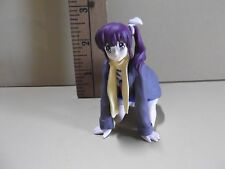 "#A114 Girls Bravo Anime 3""in Girl Figure Purple Ponytail Hair on Hands & Knees"