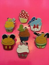 Disney Pins Cupcake Characters- 7 PINS AS SHOWN - FAST Shipping by US Seller