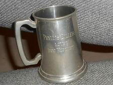 English Pewter Beer Mug Sheffield Engraved Phyllis Diller Loves Irv Kupcinet