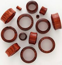 """1 Pair (2) 1/2"""" 12mm Red Tiger Wood Organic Natural Tunnels Ear Plugs Gauges 150"""