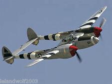 Royal Model AIRPLANE Kit Lockheed P -38 Lighting 74 inch wing span