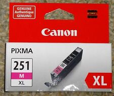 GENUINE CANON CLI-251XL MAGENTA INK CARTRIDGE NEW IN BOX