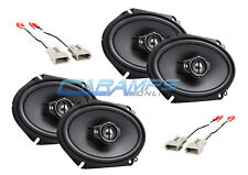 NEW KENWOOD F-150 250 350 TRUCK STEREO 3-WAY FRONT AND REAR SPEAKERS W HARNESS