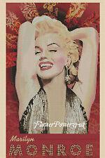 Gráfico de punto de cruz Marilyn Monroe 2 FLOWERPOWER 37-UK -... Gratis Reino Unido P&p..