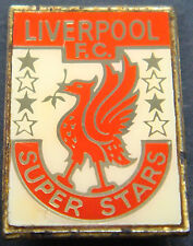 LIVERPOOL Vintage 70s 80s insert type badge Brooch pin In gilt 20mm x 29mm