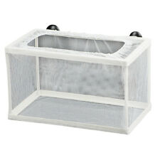Fish Tank Plastic Frame White Net Fry Hatchery Breeder w Suction Cups N6