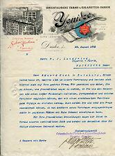 1902, Dresda, yenidze, tabacco orientali-fabbrica, carta intestata