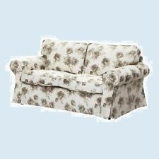 IKEA Ektorp Norlida 2-Seat Loveseat Sofa Slipcover NEW Cover Beige Floral Rose