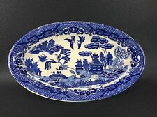 "Vintage/ Antique House Of Blue Willow Japan 8"" X 5"" Oval Relish Vegetable Bowl Y"