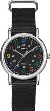 "Timex T2N869, Women's ""Weekender"" Black Fabric Strap Watch, Indiglo, T2N8699J"