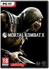 Mortal Kombat X [PC Computer DVD Fighting Fatality Scorpion Sub-Zero] Brand NEW