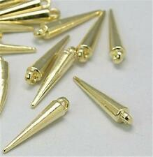 PACK OF APPROX. 75 TAPERED SPIKE BEADS - GOLD - 22mm.....................B1822 *