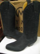 Tony Mora Womens Black Nubuk Western Boot 3389 Size 6.5 New