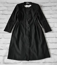 NEW STOCK: Nina Ricci £2000 Black Wool & Cashmere Princess Dress Coat FR42/UK14