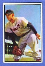 1953 Bowman Color Ted Gray Detroit Tigers #72 Baseball Card in VG to EX