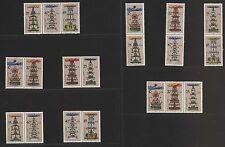 DDR MiNr. 3134-3139 (Weihnachtspyramiden) kpl. Zusammendruckgarnitur postfrisch