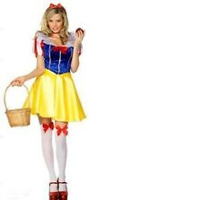 Ladies Snow White Fairytale Story Book Fancy Dress Hen Party Costume