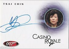 JAMES BOND IN MOTION A105 TSAI CHIN MADAME WU CASINO ROYALE AUTOGRAPH *LIMITED*