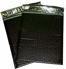 50 #2 8.5x12 Poly Bubble Mailer Envelope Shipping Wrap Sealed Air Bags Black
