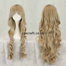 80cm long wavy curly cosplay wig in ash blonde, UK seller, Jeri style