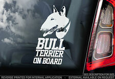 English Bull Terrier - Car Window Sticker - Dog on Board Bully Sign Gift - TYP1