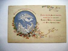 Gorgeous Vintage Religious Christmas Card w/Shepards & An Angel & Bible Verses*
