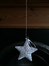 Sass and Belle Rattan Star White With LED Lights & Hanging Cord Decoration