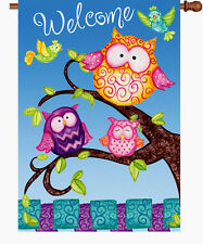 "Welcome Owls House Flag Large 40"" x 28"""