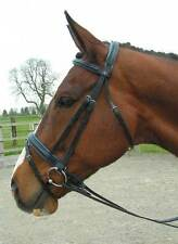 CS Comfort Bridle Havana with Blue padding crank FULL with Reins