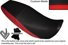RED & BLACK CUSTOM FITS TMEC 125 ENDURO DUAL LEATHER SEAT COVER ONLY