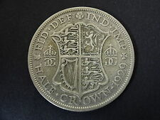 UK 1929 George V Silver Half Crown Coin