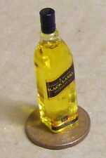 1:12 Glass Bottle Of Johnnie Walkers Black Label Whisky Dolls House Miniature
