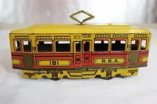 Antique RICO TIN TOY LITHO WIND UP TROLLEY TRAM No Germany Tippco Marklin