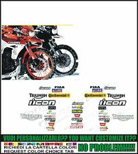 kit adesivi stickers compatibili  tiger icon 2011 dakar