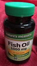 OMEGA 3 FISH OIL 1000mg 30 SOFTGEL GOOD HEART VITAMINS Nature Measure New Sealed