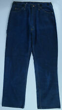 VTG Men's JC Penney's Big Mac Dark-Wash Suspender Logger Jeans Sz 36x34 EUC