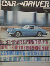 Car & Driver magazine 04/1963 featuring Ferrari, Corvette, Maserati, Chrysler