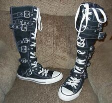 knee high CONVERSE all star boots sneakers with buckles and straps size Women 6
