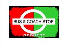 Style vintage bus & coach stop signe cuisine signe coach bus stop