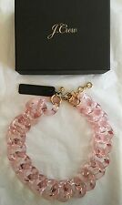 "NWT J Crew 18 1/2"" Lucite Link Statement Necklace Pink Blush #F3982 w/ Gift Box"